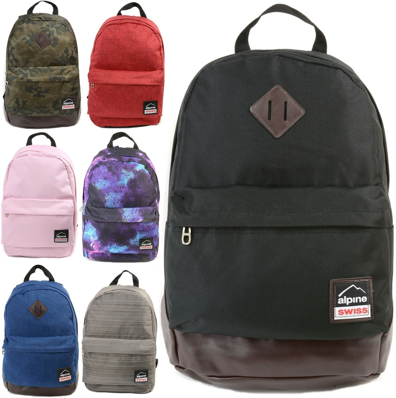 Alpine Swiss Midterm Backpack w  1-Year Warranty (various colors ... 6c8e12cbed5c6