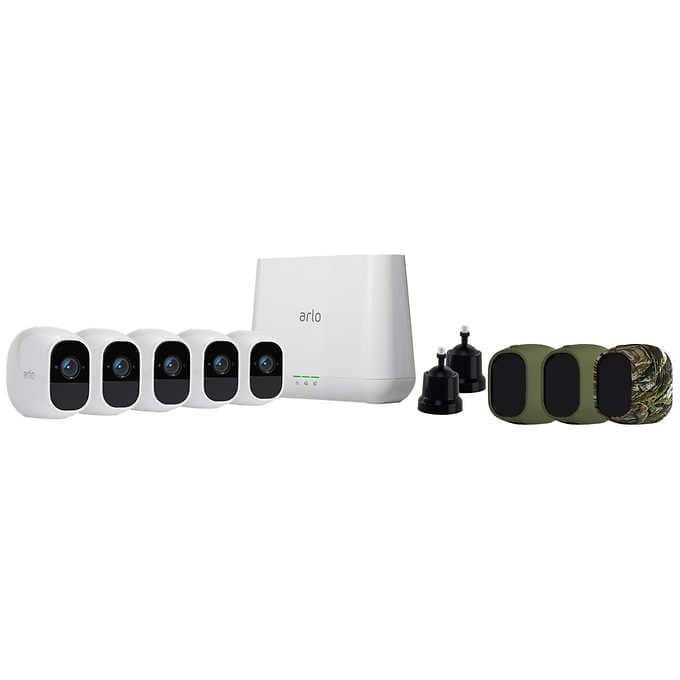 Arlo Pro 2 5-camera Wire-free 1080P HD Security System $749 99  In
