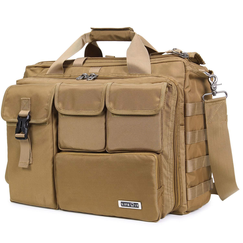 "Lifewit 17"" Men's Military Laptop Messenger Bag Multifunction Tactical Briefcase Computer Shoulder Handbags $30.59 + F/S"