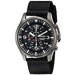 Seiko Men's SNDA65 Stainless Steel Watch with Black Canvas Strap $103.68 +  Free Shipping