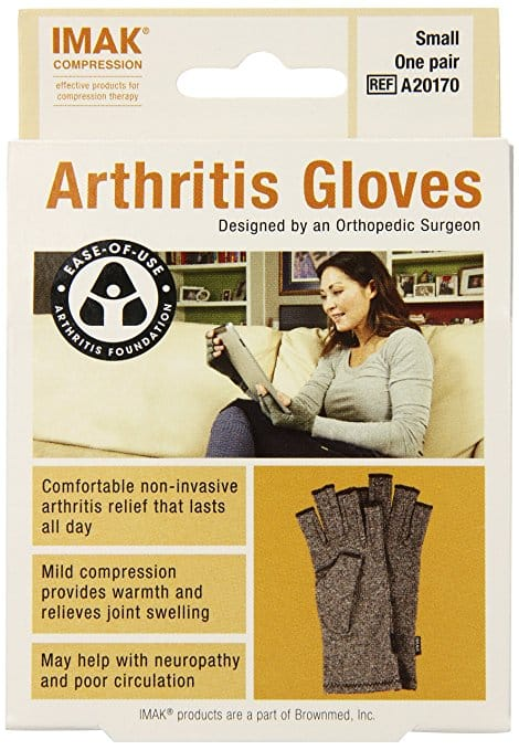 Add-On Item: IMAK Compression Arthritis Gloves, Original with Arthritis Foundation Ease of Use Seal, Small $9.90