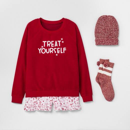 Women's Fun 4-Piece Christmas Pajama Sets $12 + Free Shipping at Target