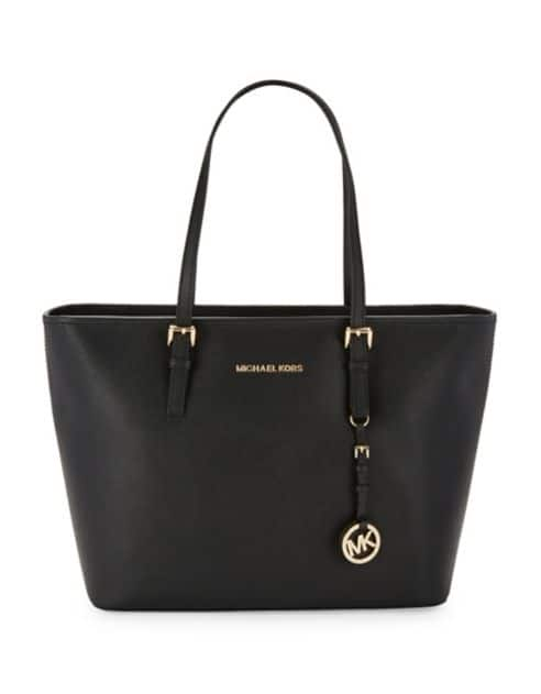 MICHAEL KORS Top-Zip Leather Tote $111.20 (60% Off) + Free Shipping at Lord & Taylor