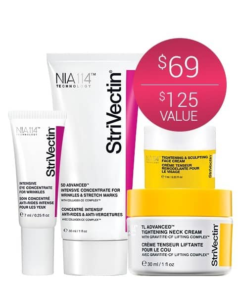StriVectin Outsmart Aging 2017 Holiday Set + 3 Minis + Free 2-Day Shipping $51.75