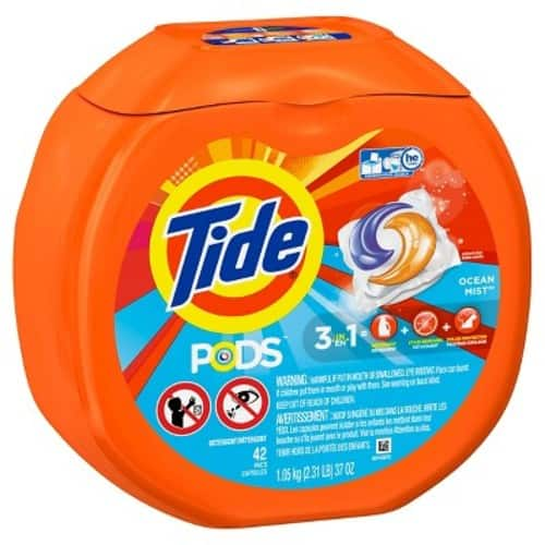 2 X Tide PODS Laundry Detergent 42 count, $15.58 with Target Cartwheel + $5 GC (In Stores Only)