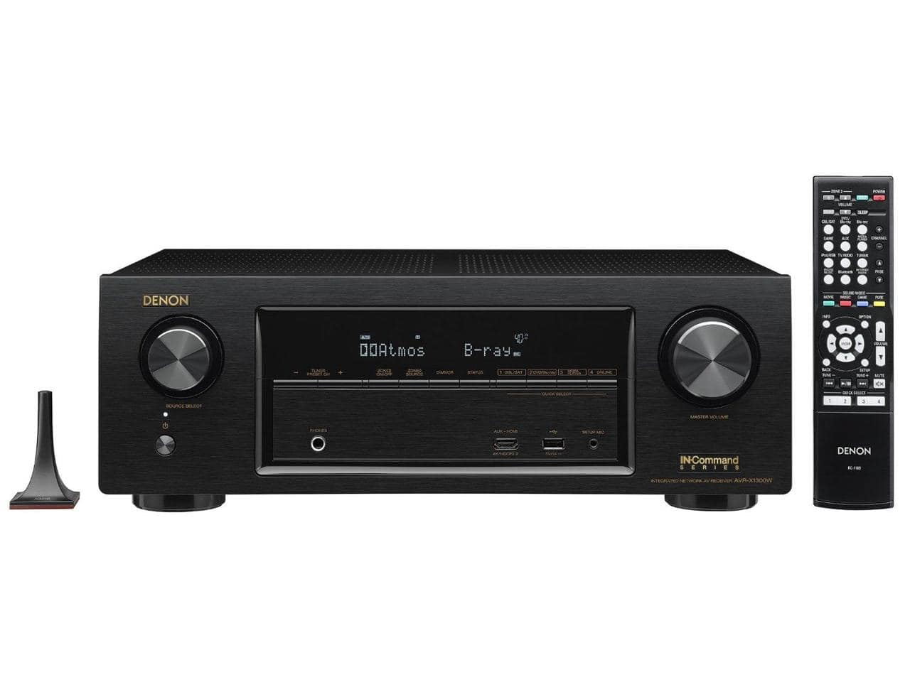 Denon AVR-X1300W 7.2 Channel Full 4K Ultra HD Network A/V Receiver with Wi-Fi and Bluetooth for $299