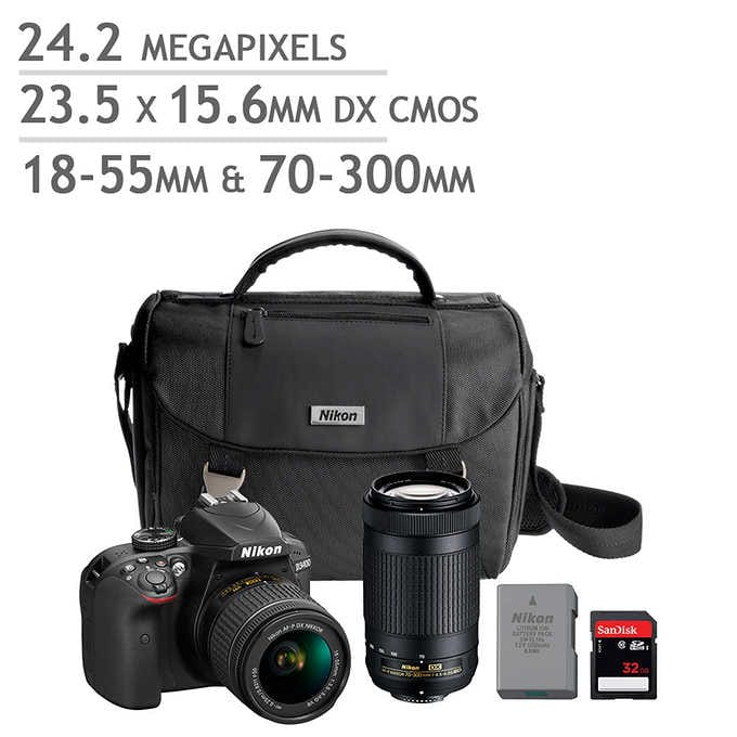 *Costco* Nikon D3400 DSLR Camera 2 Lens Bundle $499.99