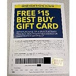 Best Buy $15 Gift Card with Smartwatch, Activity Tracker or Fitness Device $49.99+
