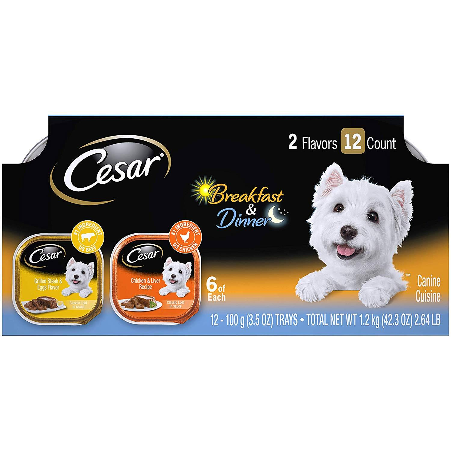 Cesar Canine Cuisine Wet Dog Food-50% extra savings coupon applied to first Subscribe & Save order only $4.06