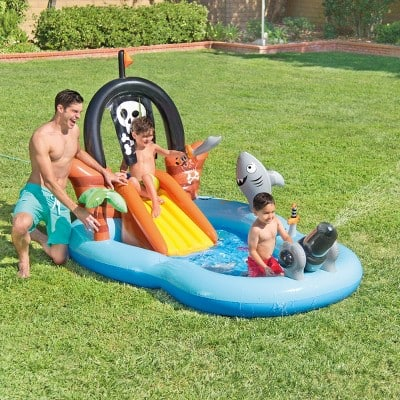 """Intex 97"""" x 76"""" x 59"""" Pirate Play Center Inflatable Pool with Sprayer $25.32"""