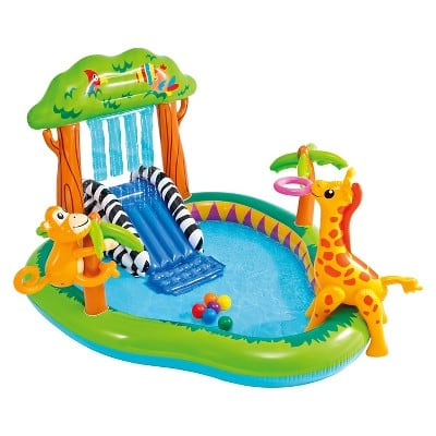 """Intex 85"""" X 74"""" X 49"""" Jungle Play Center Inflatable Pool with Sprayer $25.32"""
