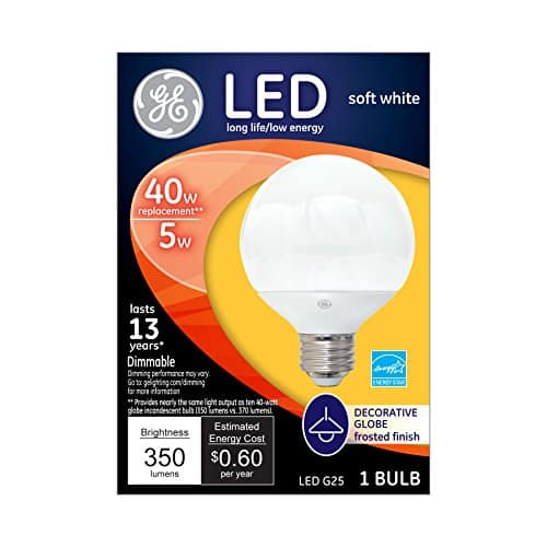 GE Decorative G25 Globe LED Bulbs $1