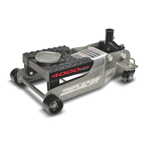 25% off Coupon for Pep Boys online= all time low of $75 for Powerbuilt Triple Lift locking floor jack