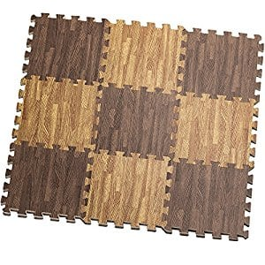 HemingWeigh Printed Wood Grain Interlocking Foam Anti Fatigue Floor Puzzle Mats $13.99+FS@Amazon.