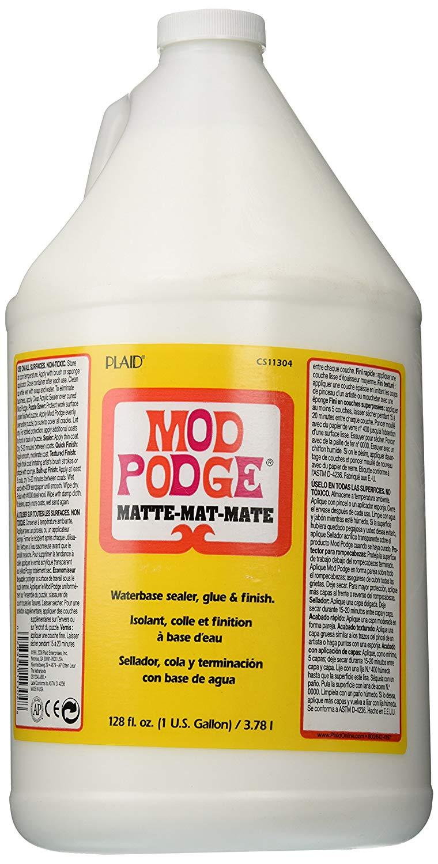 Mod Podge Waterbase Sealer, Glue and Finish (1-Gallon), CS11304 Matte Finish at Amazon  $23.91