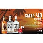 "Smirnoff ""big summer savings"" for Rum and Vodka- rebates of $40 and $60**REGIONAL*"