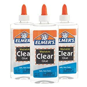 Elmer's Liquid School Glue, Clear, Washable Color: Clear Size: 9 oz (3-Pack) $10.41 Free shipping(Prime) @amazon