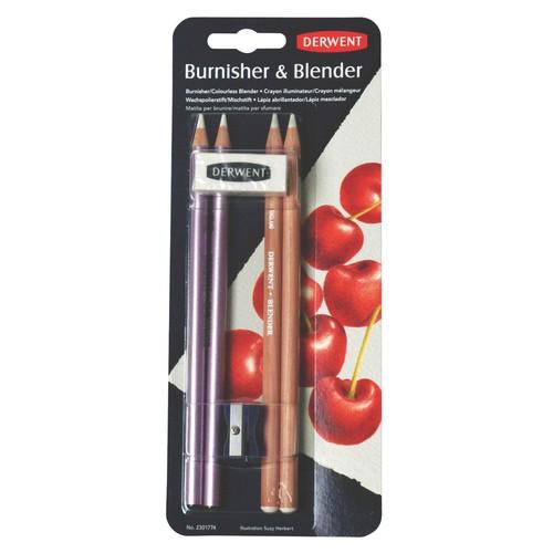 Derwent Blender and Burnisher Pencil Set, Drawing, Art Supplies (2301774) $5.03 @amazon