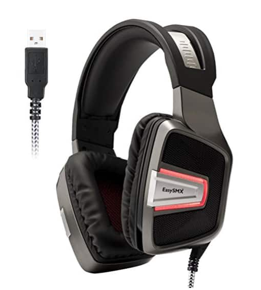 EasySMX Professional Wired Over-ear Gaming Headset for PC/PS4 (Grey) $15.40+Free Shipping@Amazon.