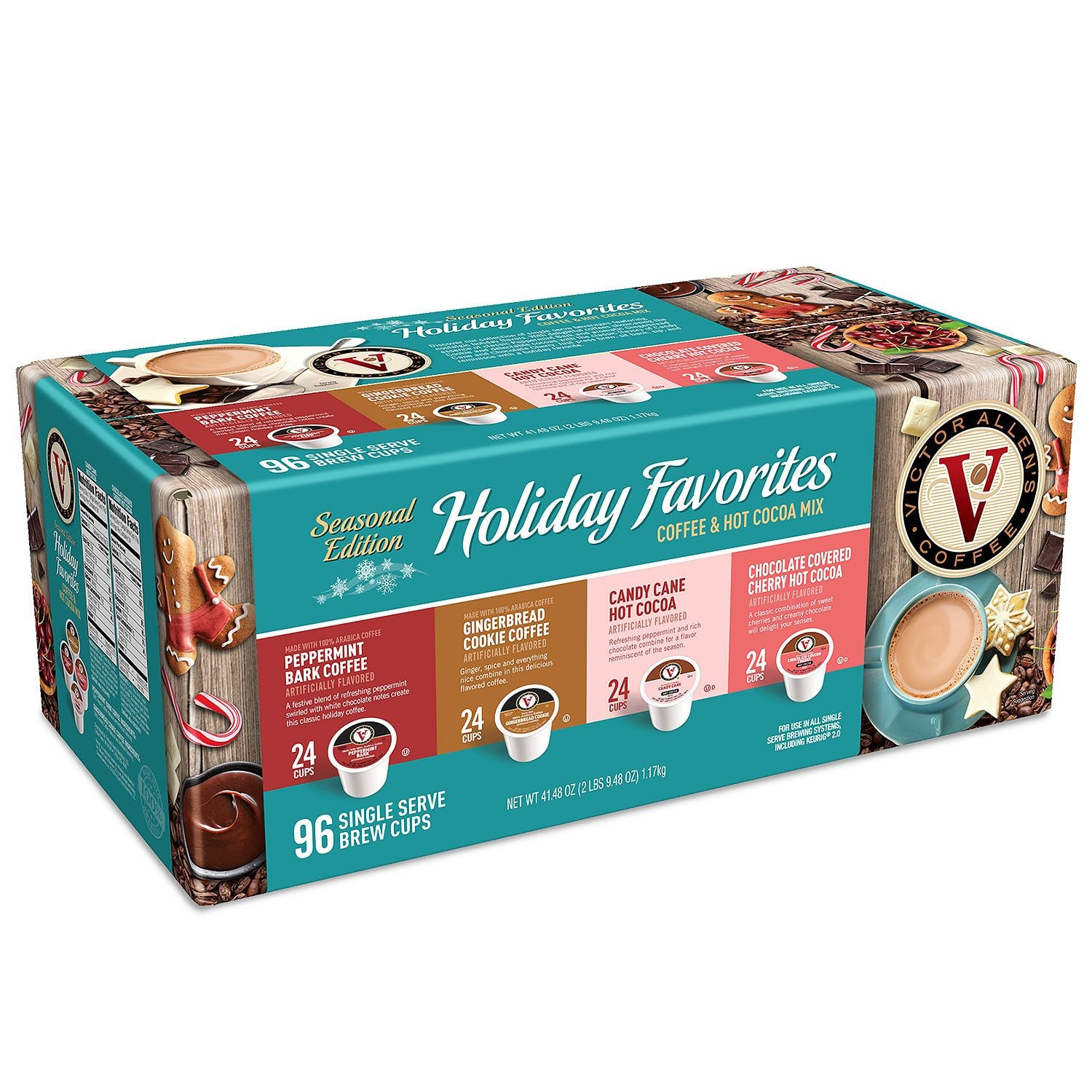 Victor Allen's Holiday Favorites Variety Pack (96 ct.)  $8.81(before tax) with free shipping requires Sam's Club membership