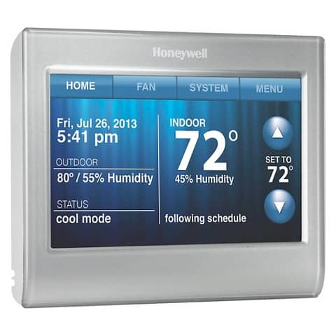 Honeywell Wi-Fi Smart Thermostat w/ Customizable Color Touchscreen TH9580WF Target in Store YMMV $114 or less.