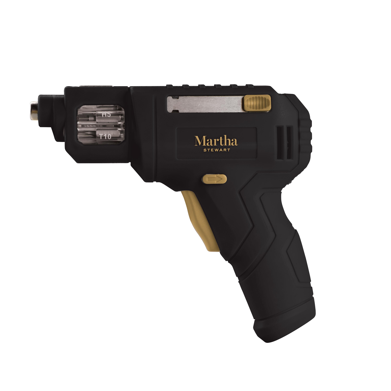 Cordless Drill Driver | 4-Volt | Quick-Bit Swap System Martha Stewart MTS-04DD-MBK $9.99
