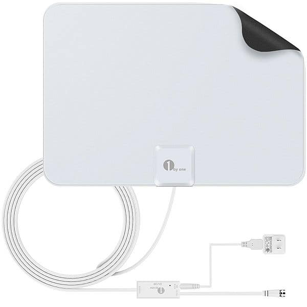 1byone 50 Miles Amplified Indoor HDTV Antenna, $17.59. 35 Mile Antenna, $12.99. Lowest prices ever @ Amazon, FS w/Prime
