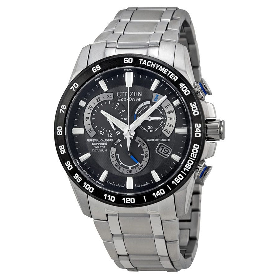 Citizen-Perpetual-Chrono-A-T-Eco-Drive-Titanium-Chronograph-Mens-Watch-AT4010-50   $325
