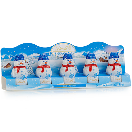 Add-on Item: Lindt Milk Chocolate Holiday Mini Snowman, Hollow, 1.7 Ounce (Pack of 6) - $5.77
