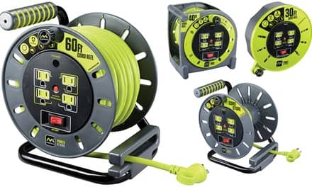 Masterplug Extension Cord Reels and Accessories $19.99 at groupon