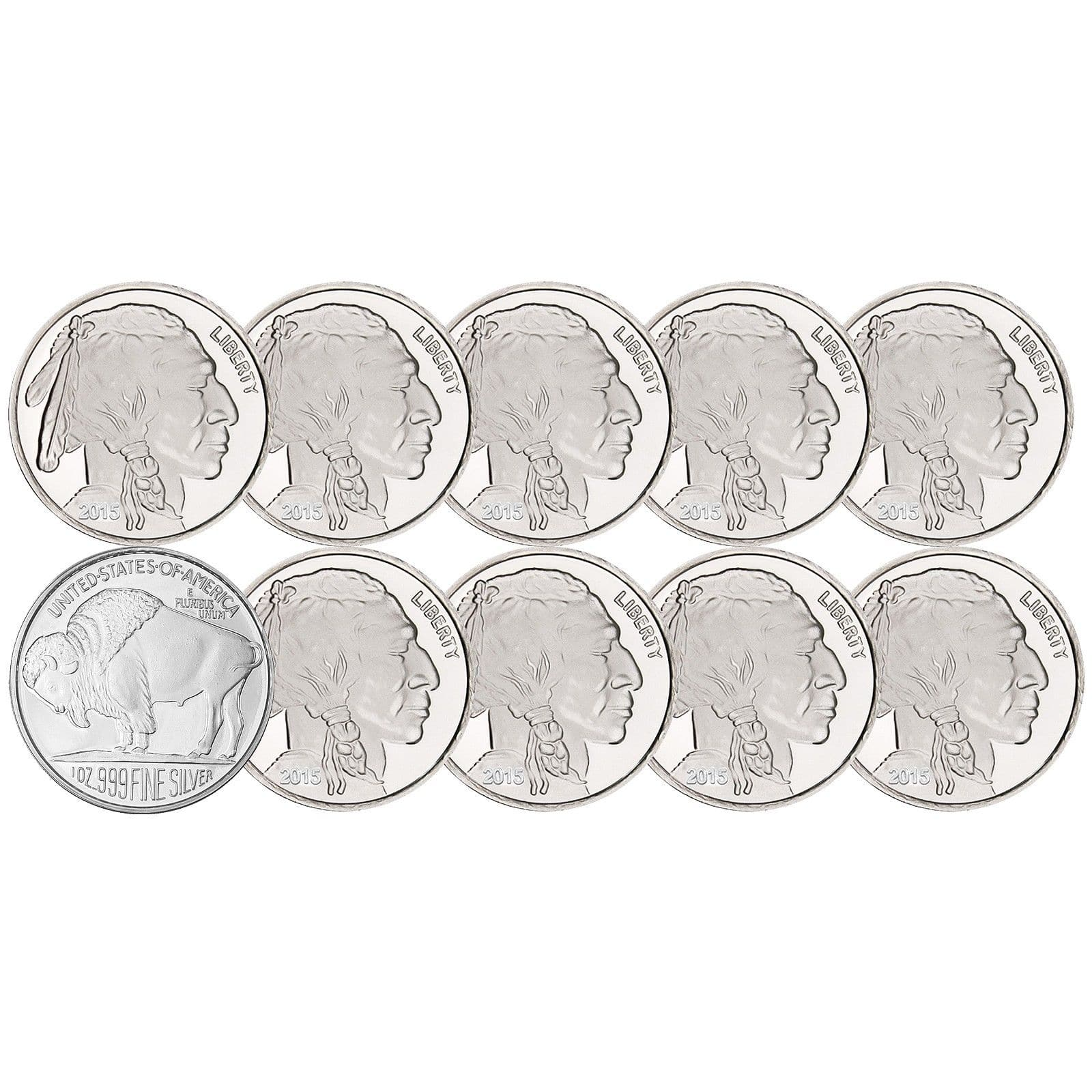 eBay Silver/Gold Deals - American Silver Eagles (Lot of 10) = $206.99; 1oz Bars/Rounds (Lot of 10) = $188.99; Maple Leafs (Lot of 10) $209.95; 1 oz Gold Bar = $1,234.99