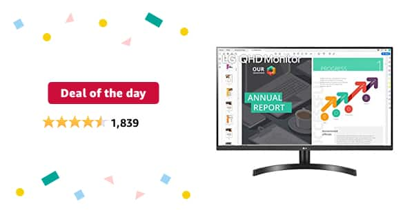Prime Day: LG 32QN600-B 32-Inch QHD (2560 x 1440) IPS Monitor with HDR 10, AMD FreeSync with Dual HDMI Inputs, Black - $209