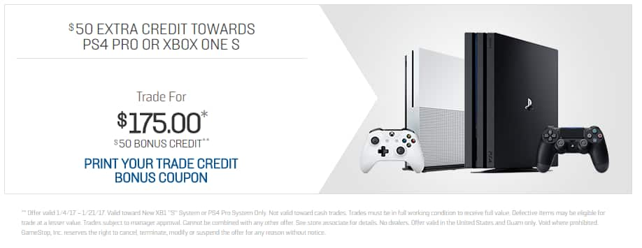 Gamestop system trade in for ps4