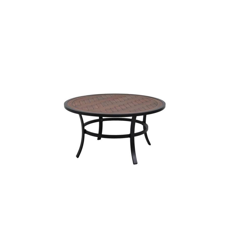 Select Lowe's Store - allen + roth Round Patio Coffee Table 38-in W x 38-in L - $37 - Free Store Pick Up - YMMV