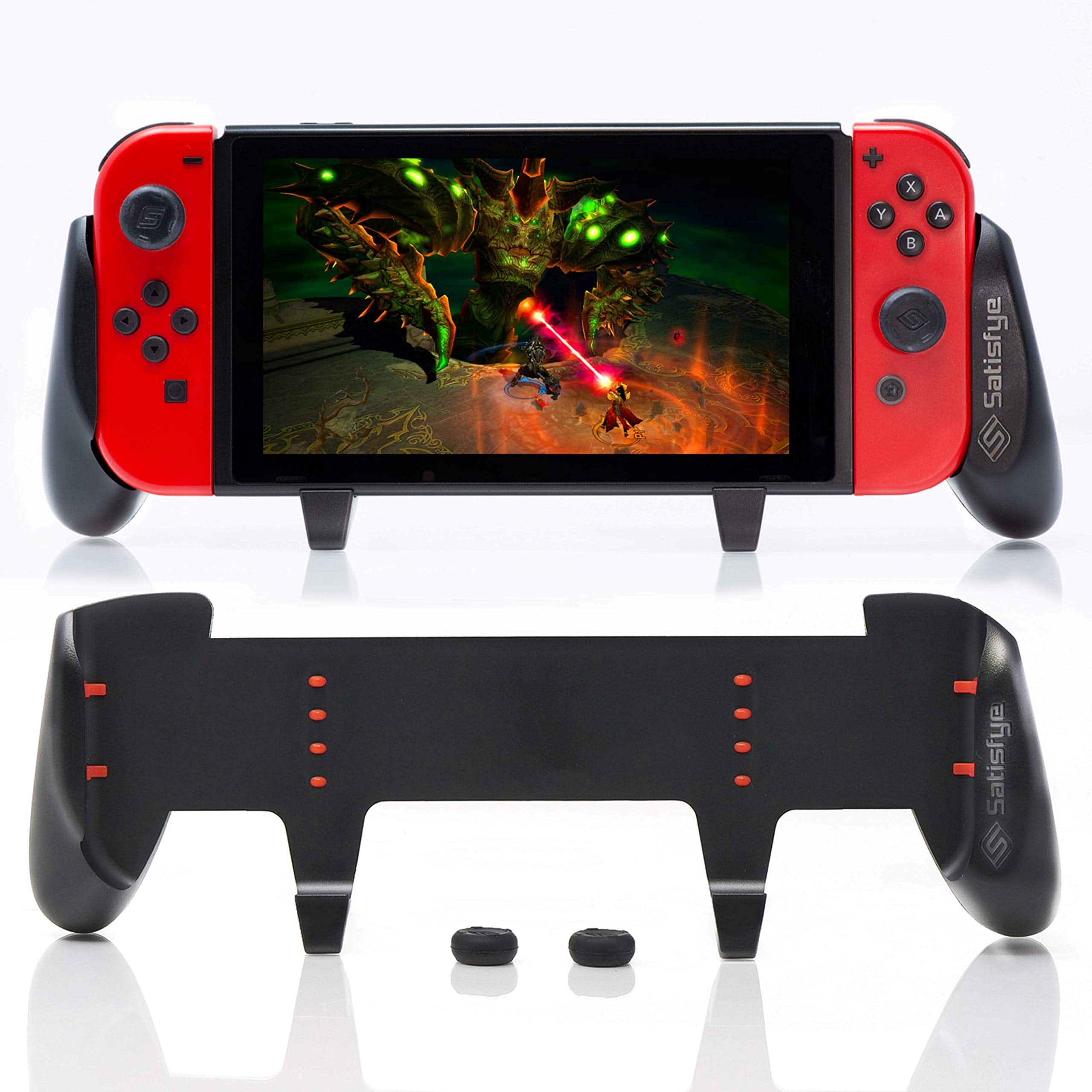 Satisfye - ZenGrip Pro, a Switch Grip Compatible with Nintendo Switch - Comfortable & Ergonomic Grip, Joy Con & Switch Control. #1 Switch Accessories Designed for Gamers. - $23