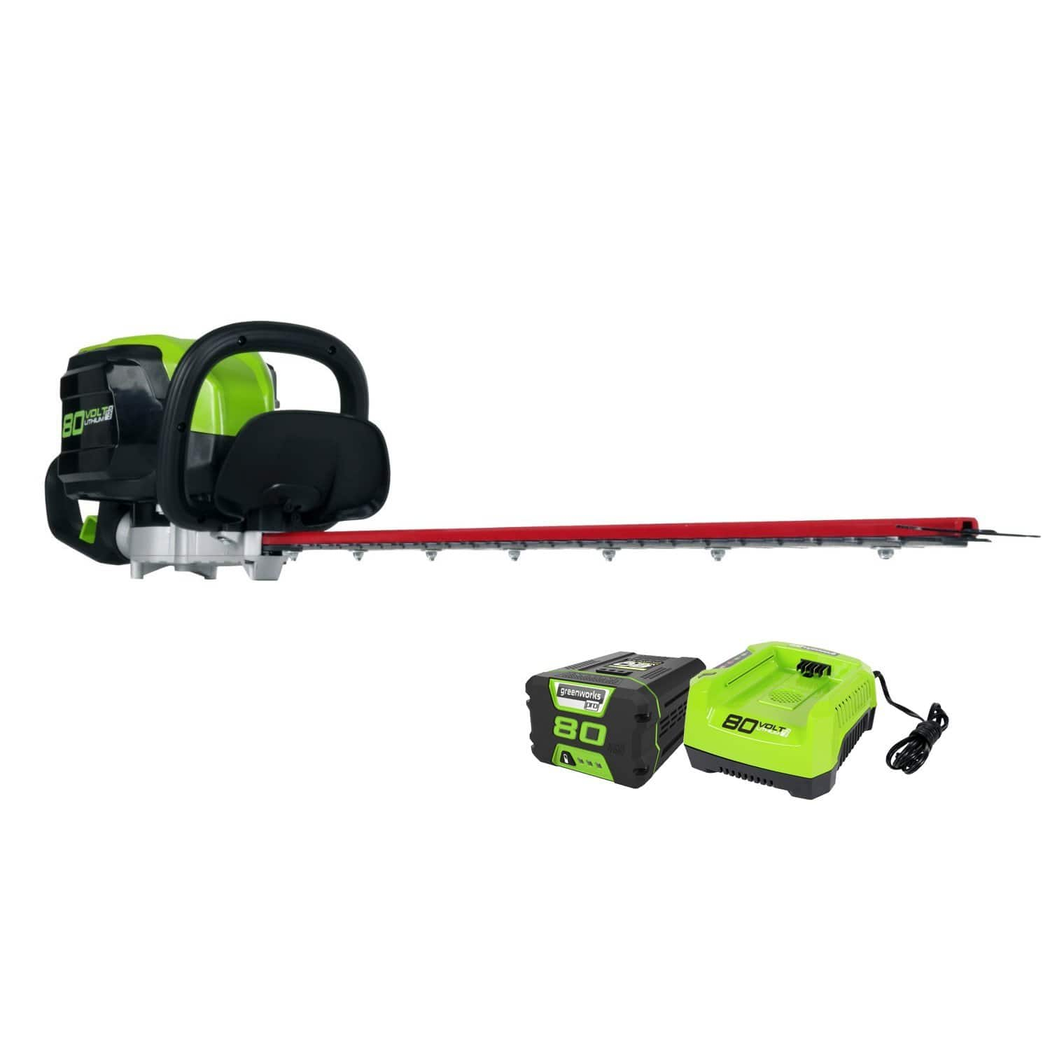 "Greenworks PRO 26-Inch 80V Cordless Hedge Trimmer, 2.0 AH Battery Included GHT80321 [26"" Battery Included] $161.81"