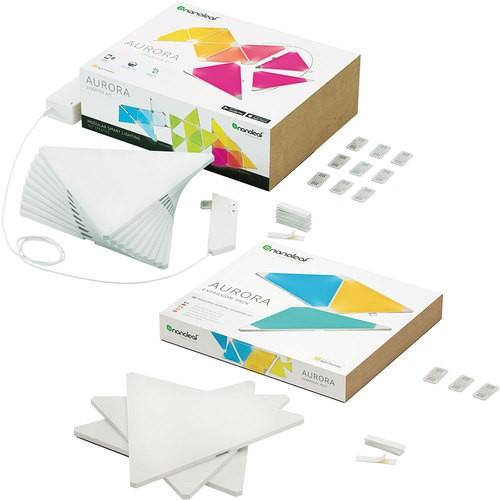 Nanoleaf - Aurora Smarter Kit with Expansion Pack (12 Panels) Best Buy $199.98