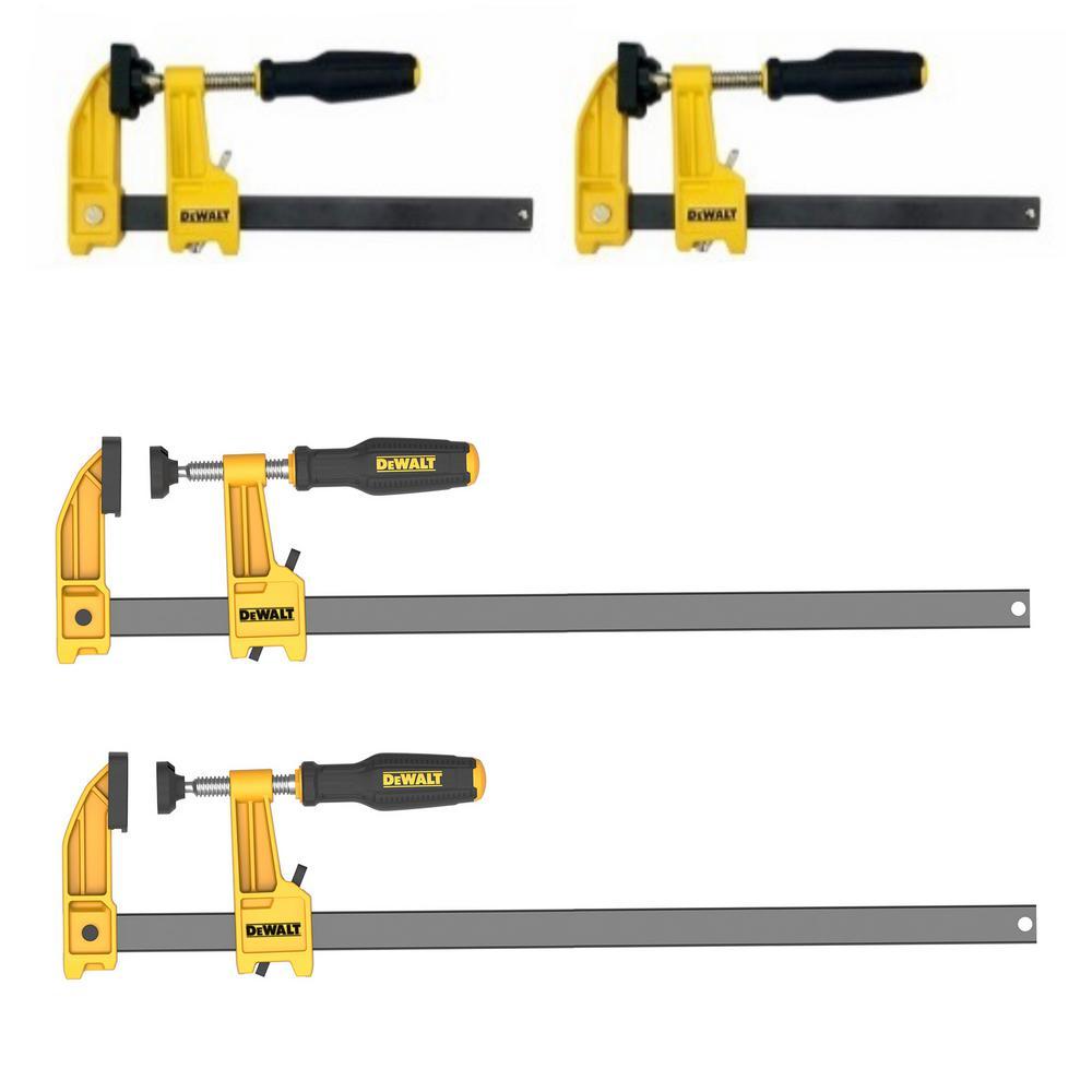 4 Dewalt bar clamps for $20