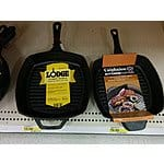 Target Lodge L8SGP3 10.5-in Square Cast Iron Seasoned Grill Pan for $16 BM