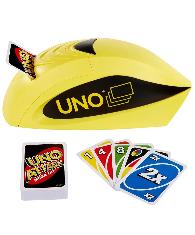 UNO: Attack Mega Hit Card Game with Card Shooter for 13.99 + Free Shipping with Prime or $25+