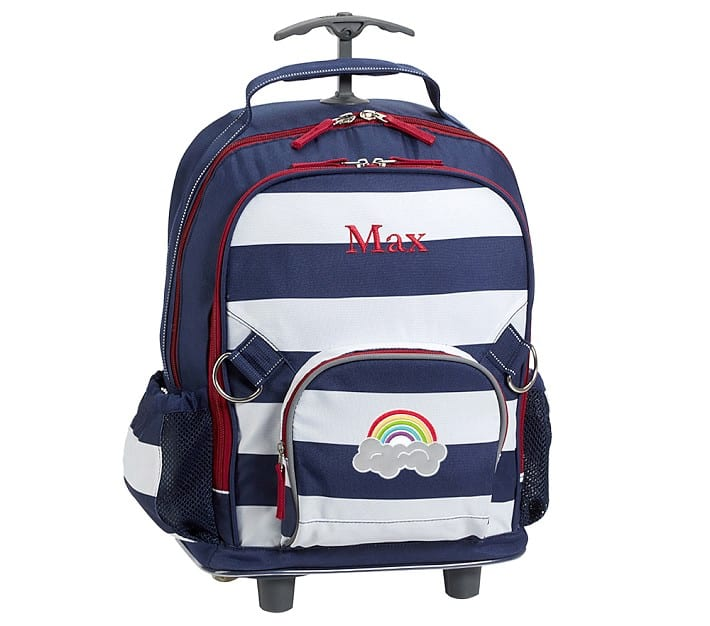 Pottery Barn Fairfax Navy White Stripe Backpack Rolling For 2240