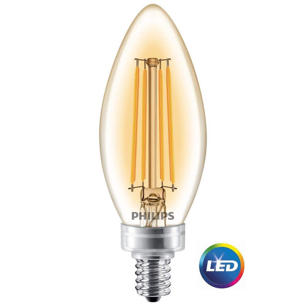 Candelabra LED Light Bulbs - $0.32 per bulb - DC & MD ONLY - Philips 40W Soft White Clear Dimmable B11 from Home Depot $0.97