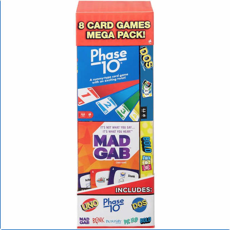Costco: Mattel Mega Card Game, 8-pack + FS $19.99