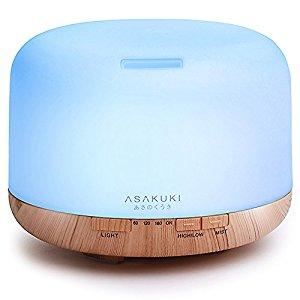 ASAKUKI 500ml Premium, Essential Oil Diffuser, 5 In 1 Ultrasonic Aromatherapy Fragrant Oil Vaporizer Humidifier $9.99 + Free Shipping