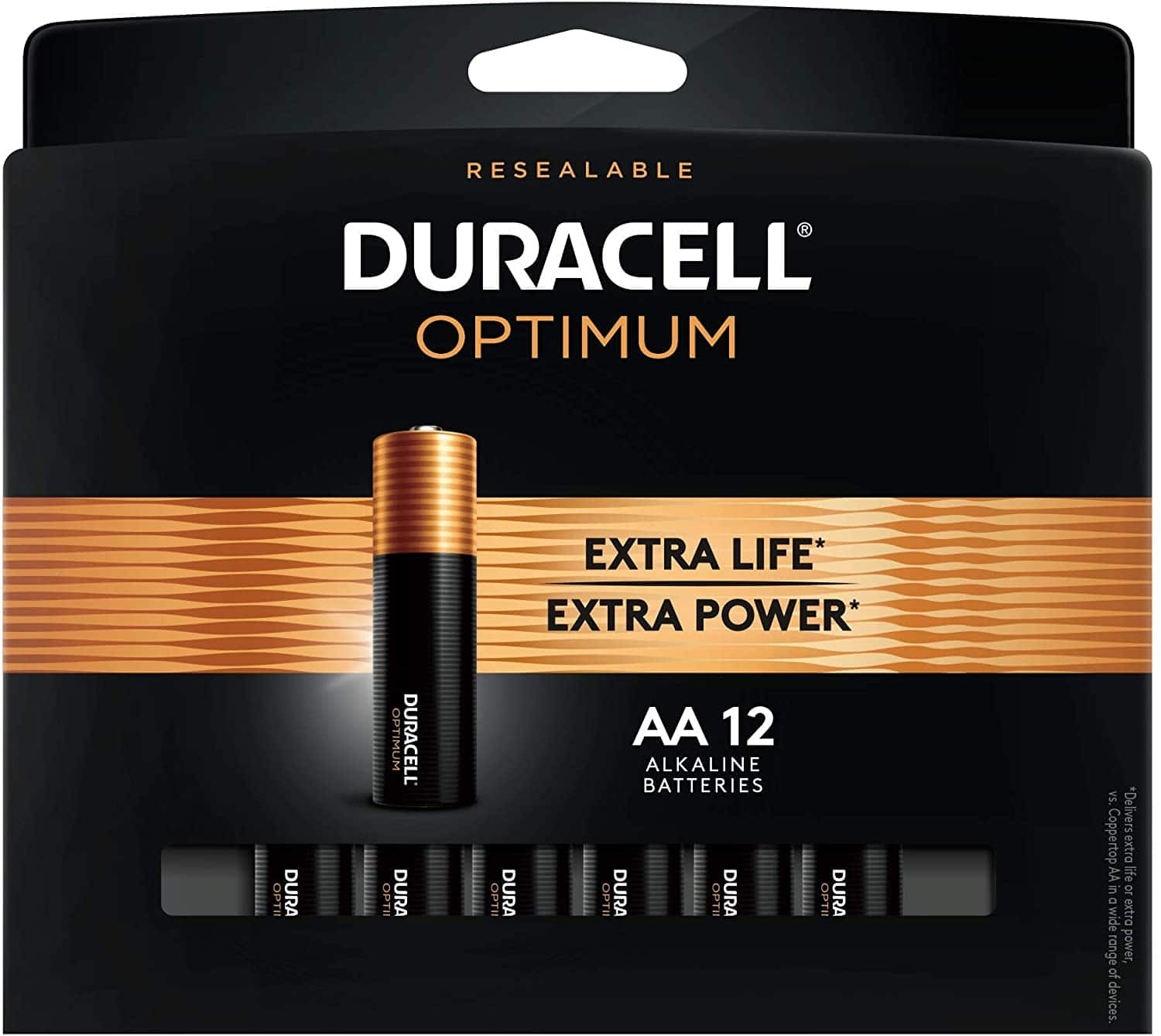 100% back in OD Rewards on Duracell Optimum AA or AAA12 pack