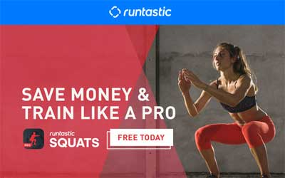 Runtastic Squats PRO app (iOS or Android) FREE