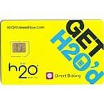 H2O Wireless SIM card $0.01 shipped. 2-in-1 size. Micro and Mini SIM.