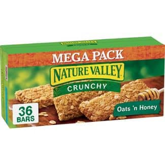 36  Nature Valley Crunchy Granola Bars, Oats 'n Honey for $3.68