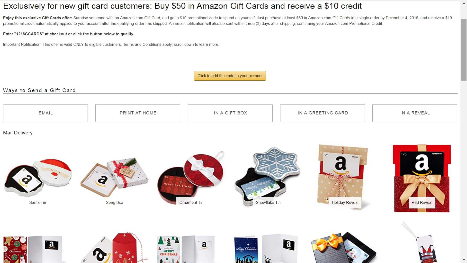 amazon new gift card customers buy 50 in amazon gift cards and receive a 10 credit page 8. Black Bedroom Furniture Sets. Home Design Ideas