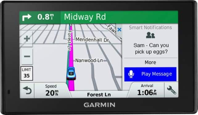 Garmin DriveSmart 51 NA LMT-S with Lifetime Maps/Traffic, Live Parking, Bluetooth,WiFi, Smart Notifications, Voice Activation, Driver Alerts, TripAdvisor, Foursquare for $149.9+tax
